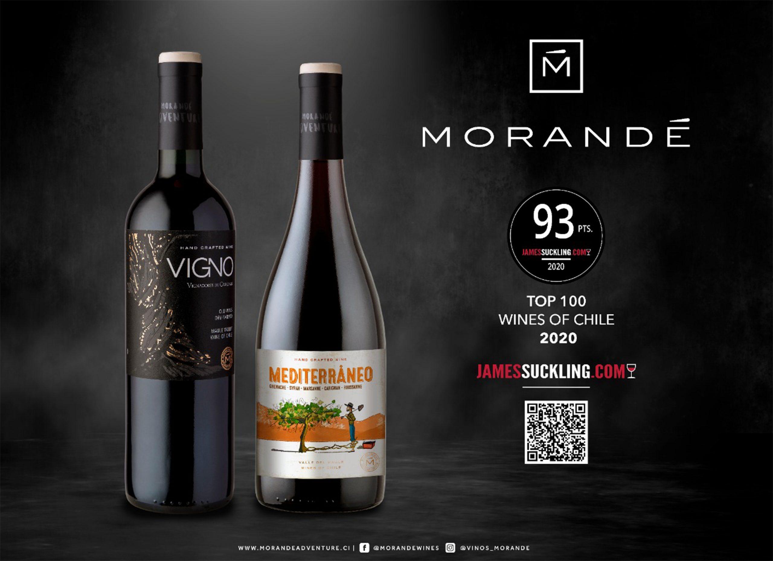 James Suckling incluye dos notables vinos de Viña Morandé en su reciente informe de los Top 100 vinos chilenos